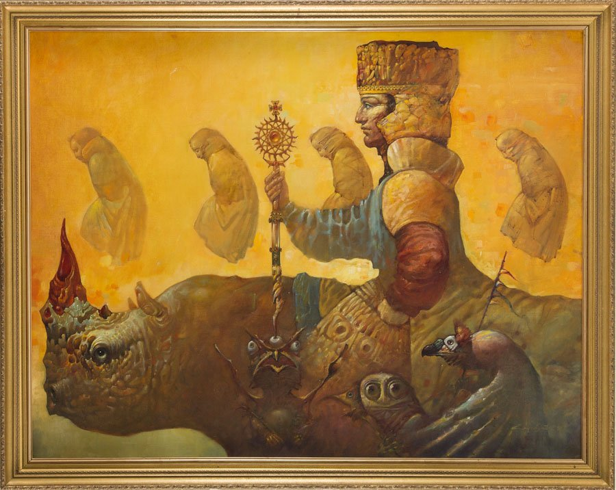 Artavazd Talalyan, (b. 1965), The King I, 2001 oil on - 7