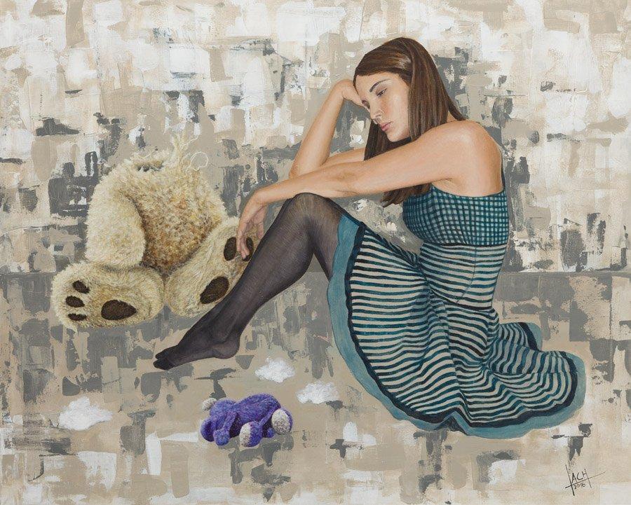Jolanta Lach, (b. 1988), Other toys, 2016, acrylic on
