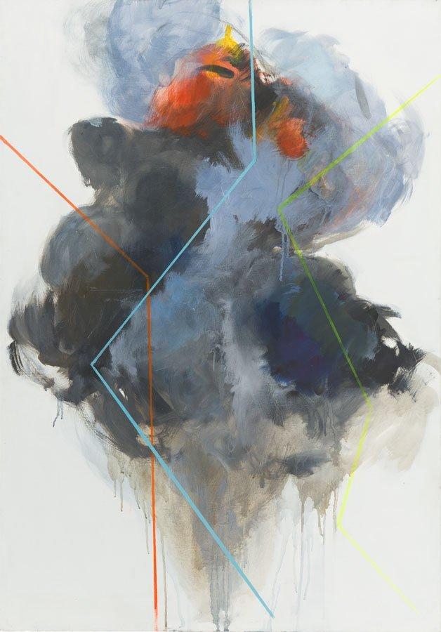 Joanna Sikorska, (b. 1987), Explosion, 2013, acrylic on