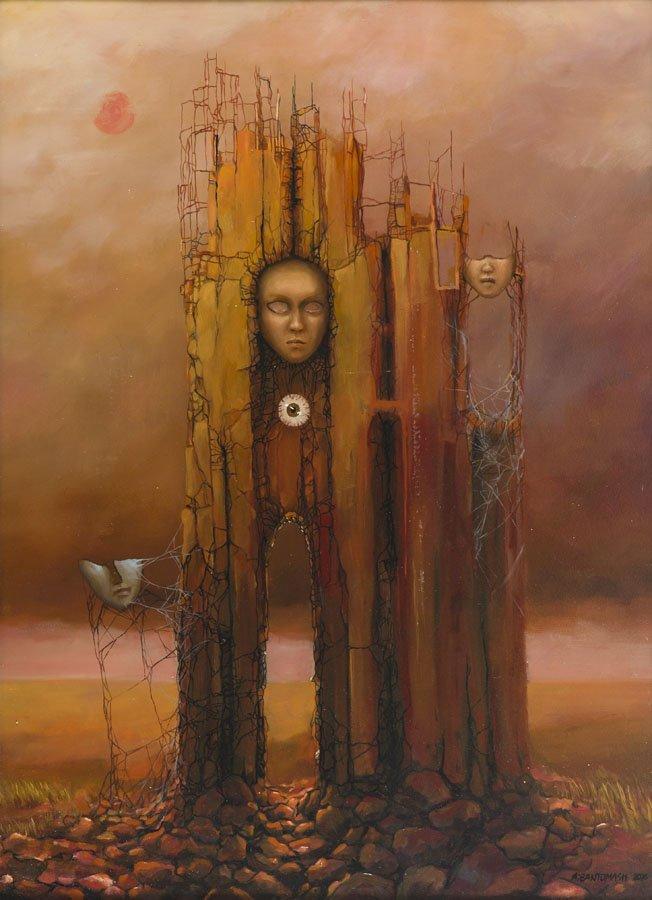 Marcin Tomaszewski, (b. 1971), The masks, 2016, oil on