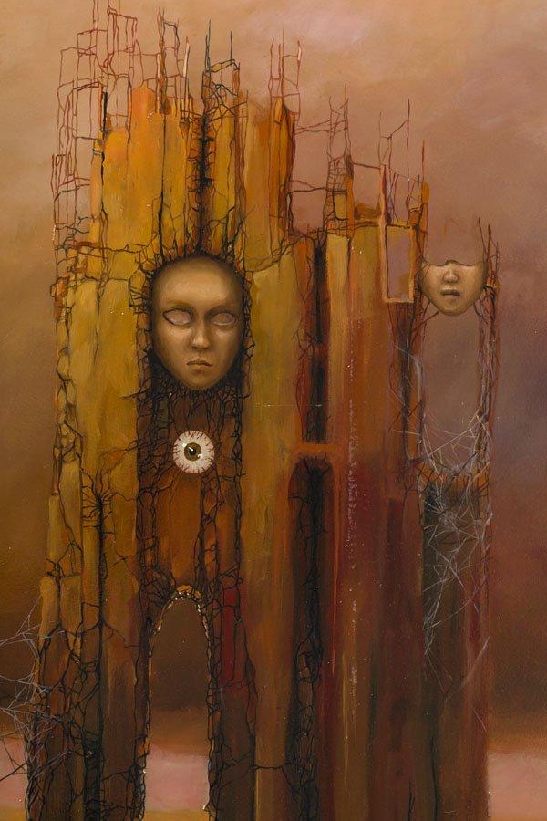 Marcin Tomaszewski, (b. 1971), The masks, 2016, oil on - 3