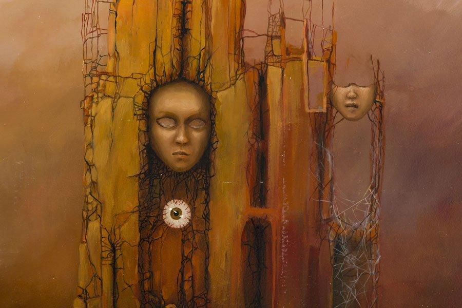 Marcin Tomaszewski, (b. 1971), The masks, 2016, oil on - 4