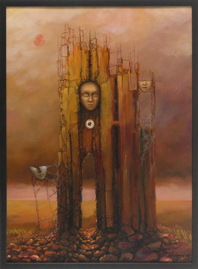 Marcin Tomaszewski, (b. 1971), The masks, 2016, oil on - 5