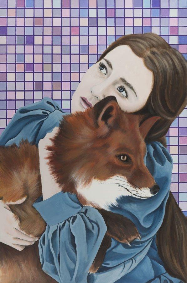Karolina Fox, (b. 1988), Foxy Lady 2, 2016, acrylic on