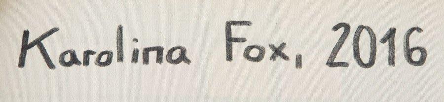 Karolina Fox, (b. 1988), Foxy Lady 2, 2016, acrylic on - 2
