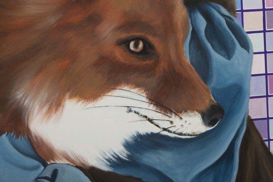 Karolina Fox, (b. 1988), Foxy Lady 2, 2016, acrylic on - 4