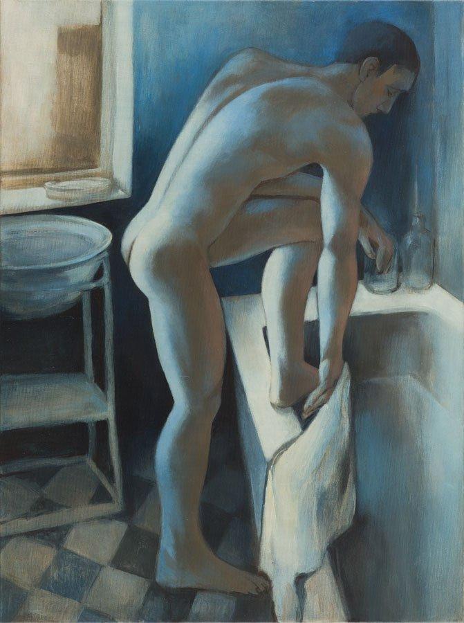 Juliusz Lewandowski, (b. 1977), Male nude in the