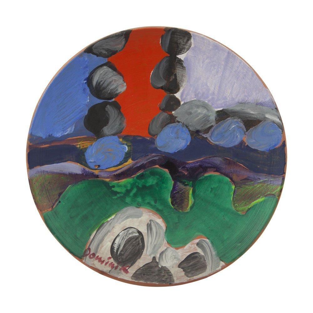 Tadeusz Dominik (1928-2014) Composition, oil on