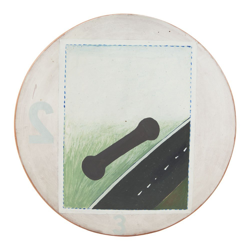Stanislaw Fijalkowski (b. 1922) Highway, oil on