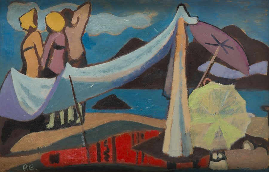 Roman Sielski (1903 - 1990) Decorative Beach, 1960; oil