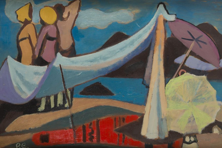 Roman Sielski (1903 - 1990) Decorative Beach, 1960; oil - 4