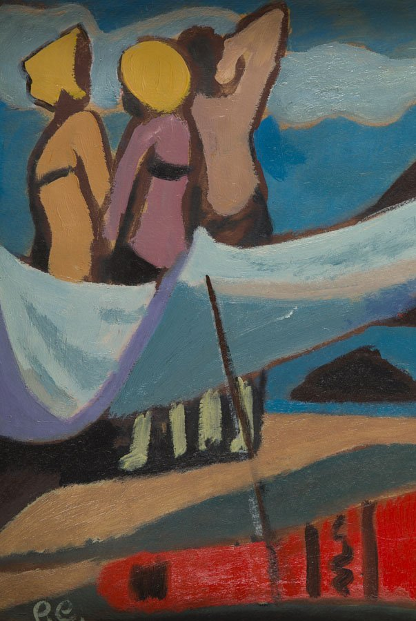 Roman Sielski (1903 - 1990) Decorative Beach, 1960; oil - 5