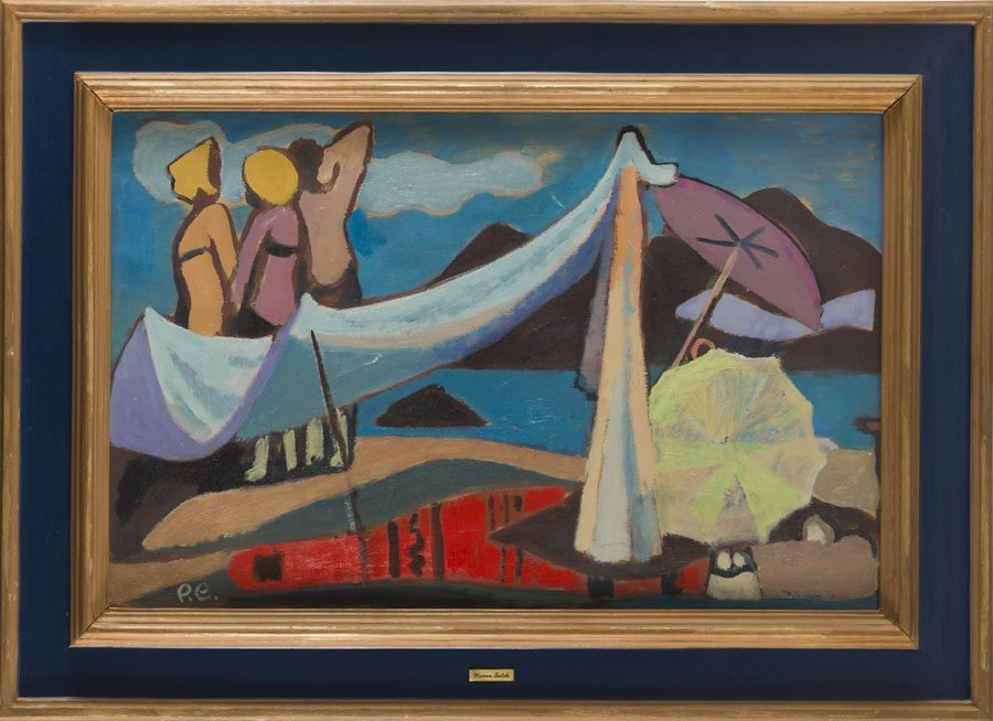Roman Sielski (1903 - 1990) Decorative Beach, 1960; oil - 6