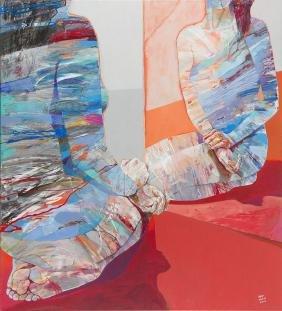 Adam Wator (b. 1970) Form next to mirror, 2016, acrylic