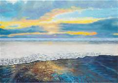 Jolanta Lach (b. 1988) Pobrzeg, 2016, acrylic on