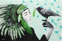 Zuzanna Jankowska (b. 1991) Lover, 2016, acrylic on