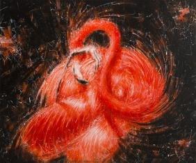 Grzegorz Czechowski (b. 1981) Flamingo's dream, 2016,