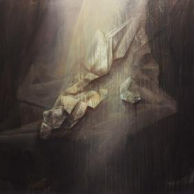 Marek Haba (b. 1983) Forms of light, 2013, acrylic on