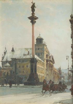 Wladyslaw Chmielinski (1911 - 1979) Sigismund's Column;