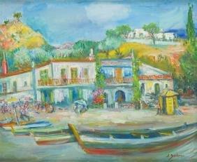 Jakub Zucker (1900 - 1981) Landscape; oil on canvas,