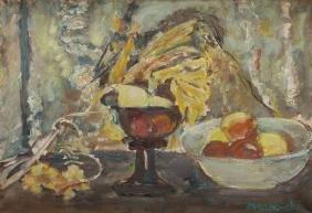 Czeslaw Rzepinski (1905 - 1995) Still Life with Apples;