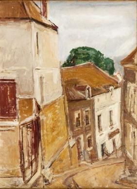 "Issac Dobrinsky (1891 - 1973) ""Houses in Saint-Prix"","