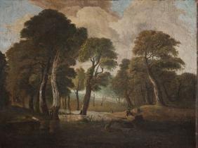 Unknown Painter, 17th century  The Par Force Hunt; oil