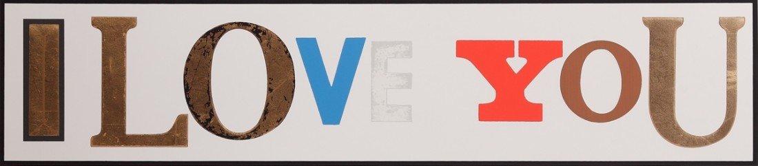3: Peter Blake, I Love You (White), 2010