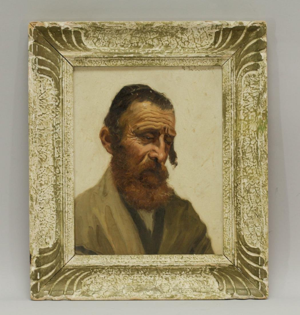 Jewish Rabbi Oil on Canvas and Signed