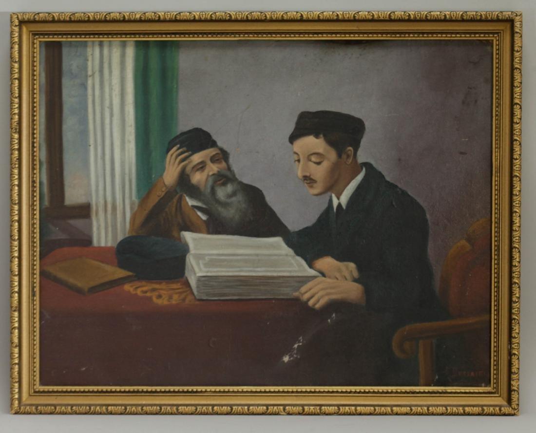 "Jewish Painting Oil on Canvas, Signed ""Buczacki"""