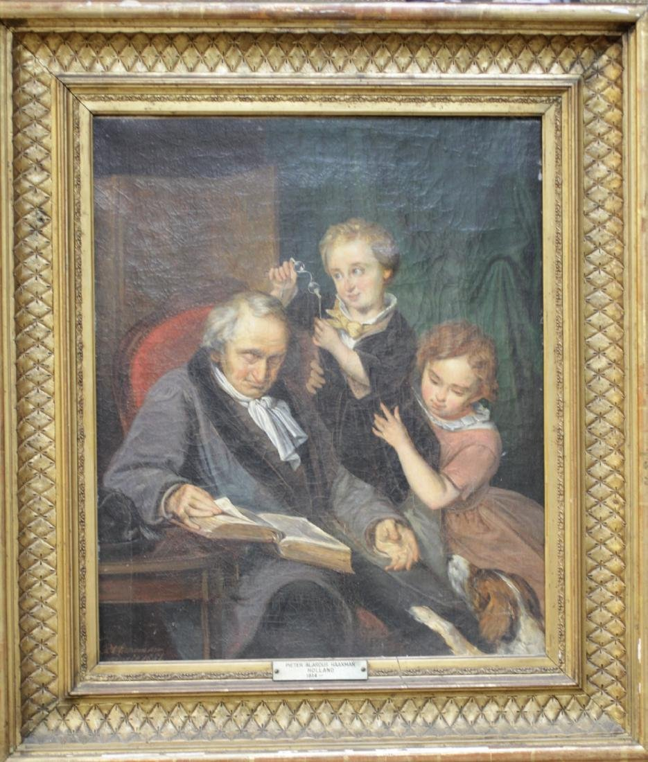 Oil Painting on Canvas, Gilt wood Frame