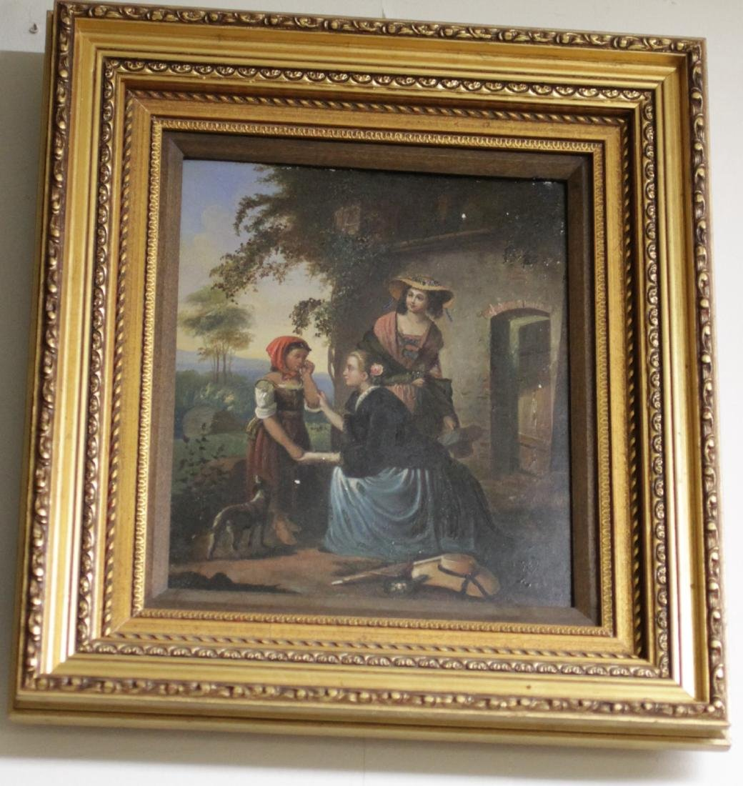 Oil Painting on Canvas, with Gilt wood frame