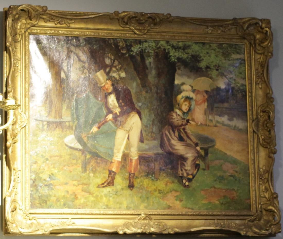 Oil Painting on Canvas, Signed by Clindoni,