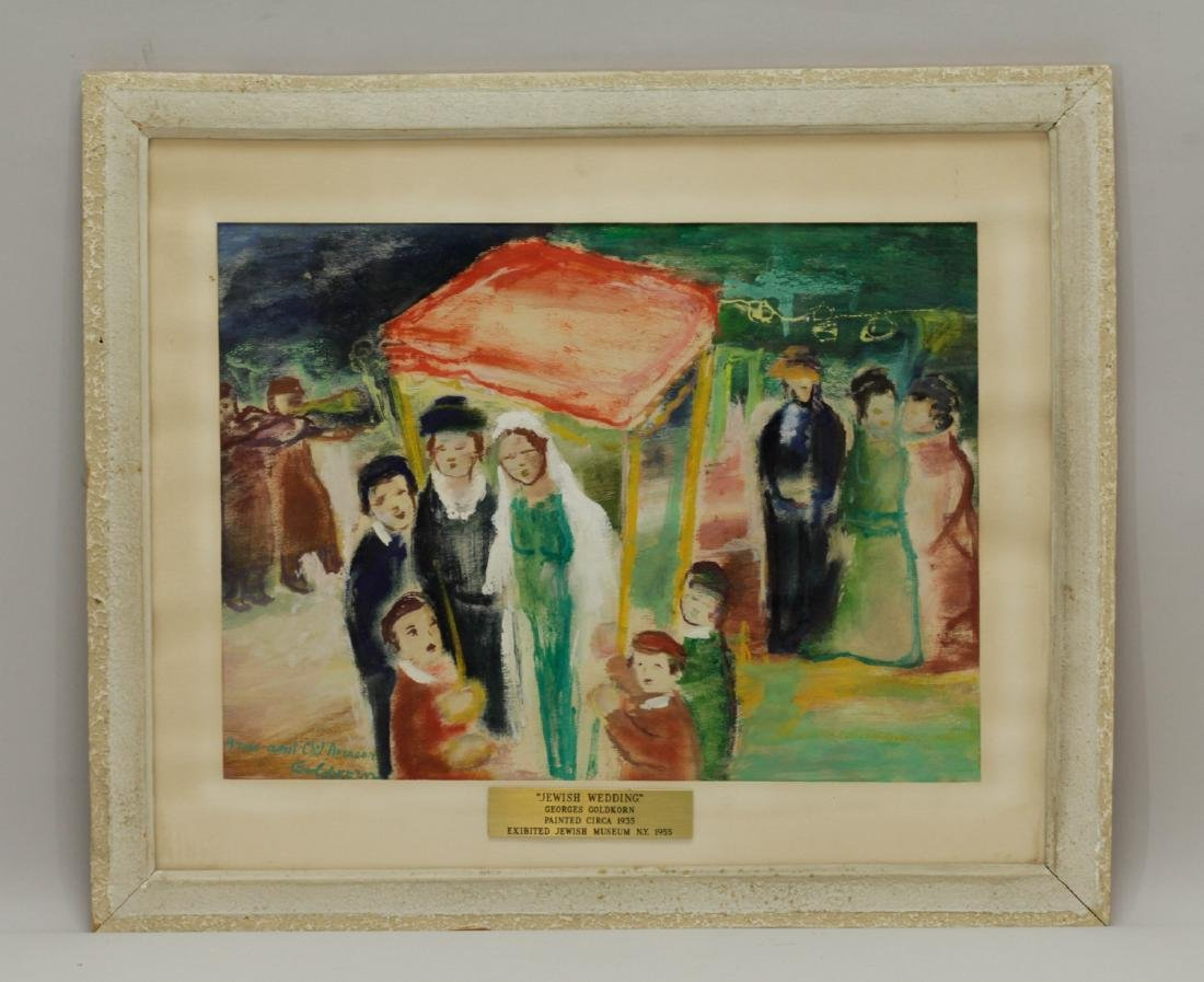Jewish Wedding Painting From, Georges GoldKorn