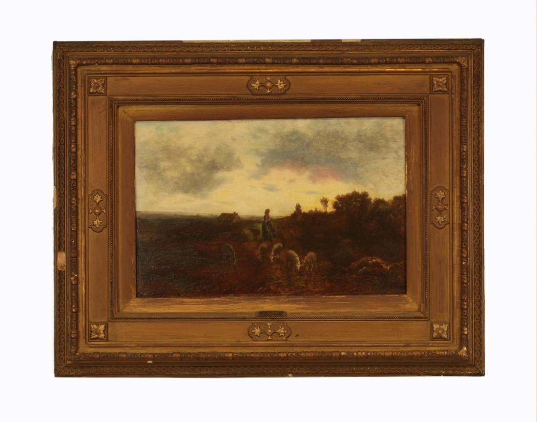 """Signed and """"A Justh""""- 19th Century Oil on Board"""