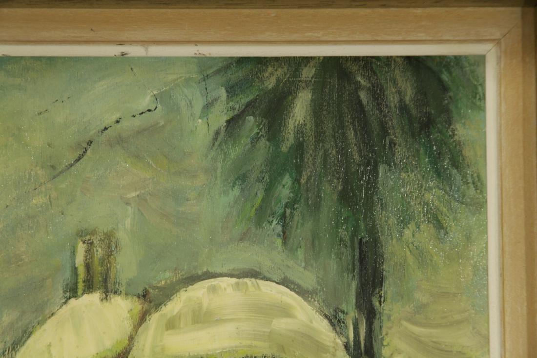 """Oil on Board by """"Mila Laufer"""" Isrealic School, 197 - 3"""
