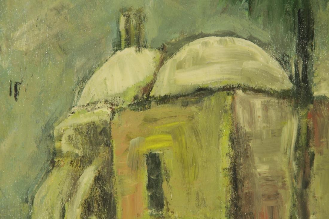"""Oil on Board by """"Mila Laufer"""" Isrealic School, 197 - 4"""