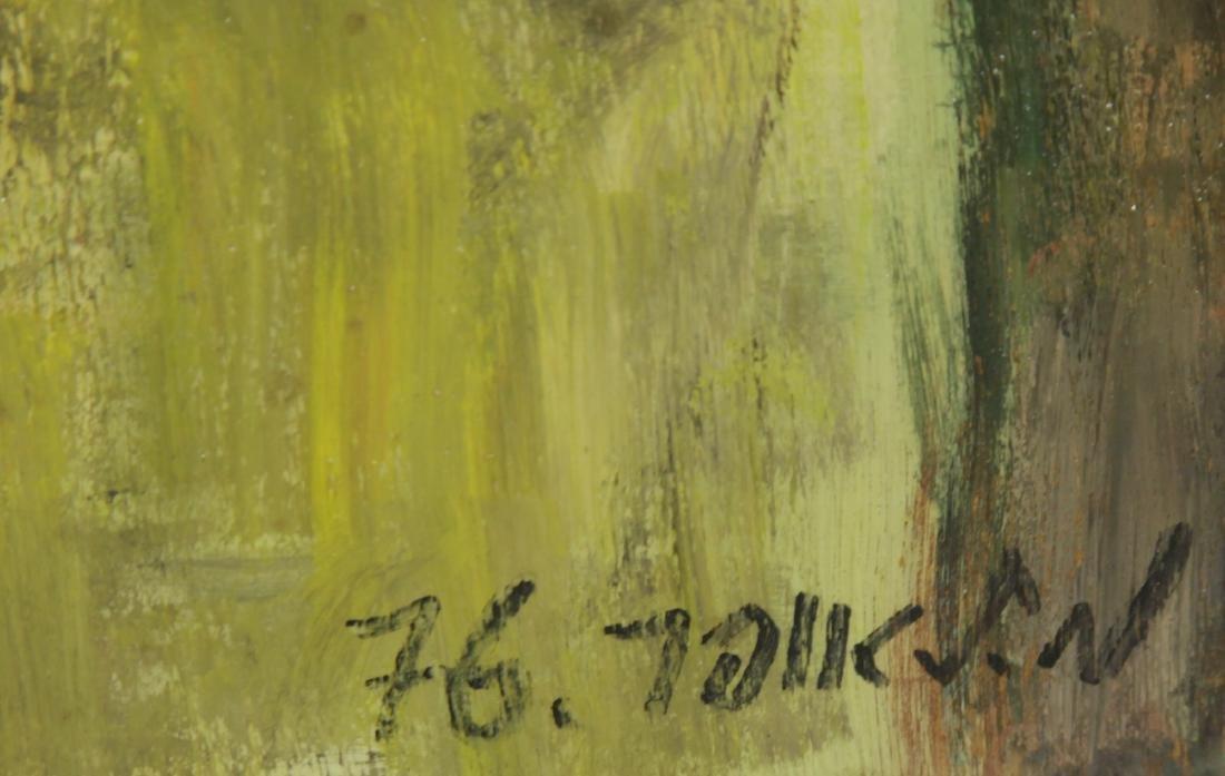 """Oil on Board by """"Mila Laufer"""" Isrealic School, 197 - 8"""
