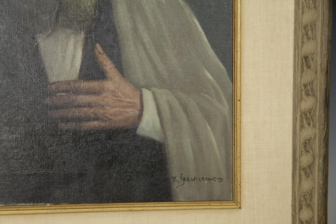 """""""Konstantin Szewczenko"""" 1915-1981 Oil on Canvas - 6"""