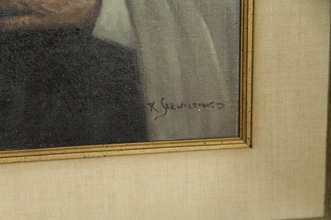 """""""Konstantin Szewczenko"""" 1915-1981 Oil on Canvas - 7"""