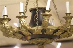 12 Lights Empire Style Gilt Bronze Chandelier