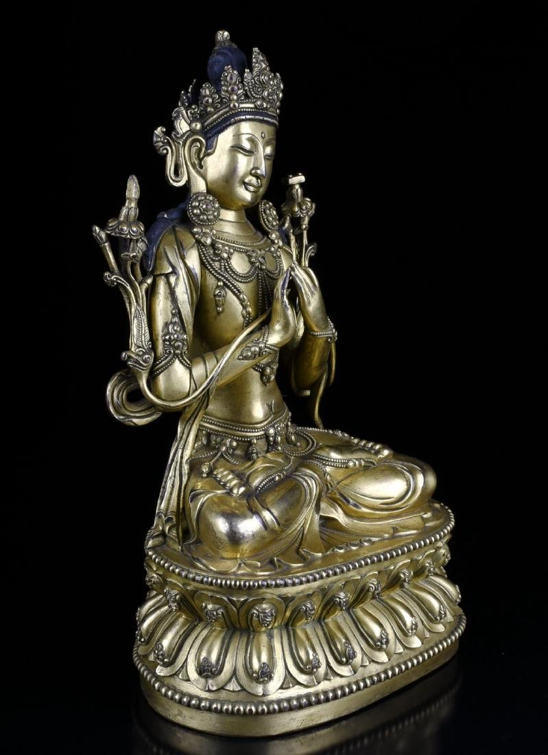 Chinese Gilt Bronze Buddha - 2