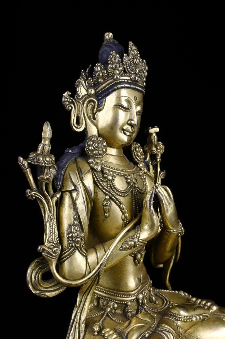Chinese Gilt Bronze Buddha - 6