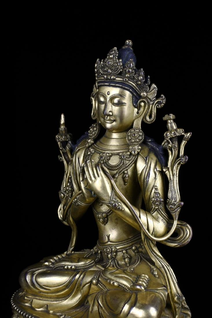 Chinese Gilt Bronze Buddha - 7