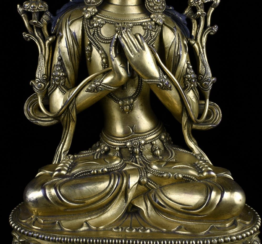 Chinese Gilt Bronze Buddha - 8