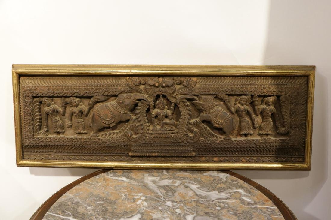 Indian Wood Carving of Panel