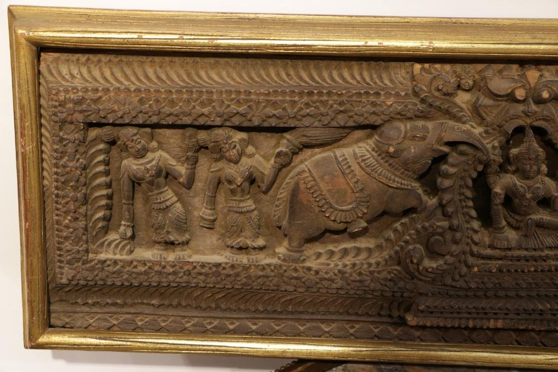 Indian Wood Carving of Panel - 2