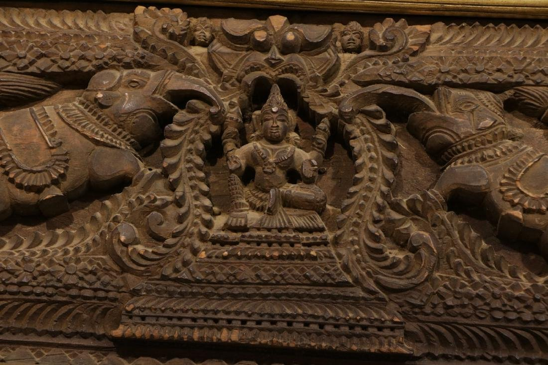 Indian Wood Carving of Panel - 4