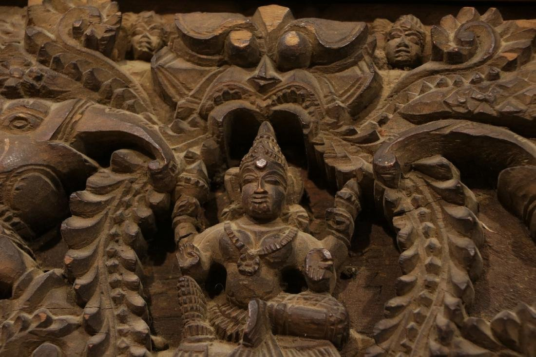 Indian Wood Carving of Panel - 6
