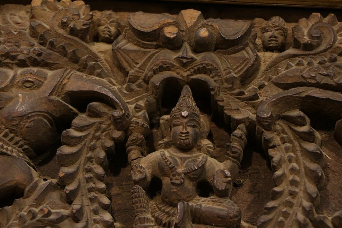 Indian Wood Carving of Panel - 8